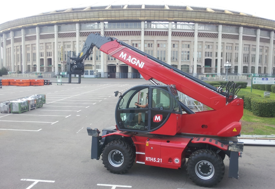 Rotated telescopic handler MAGNI RTH 5.23 for rent in Russia